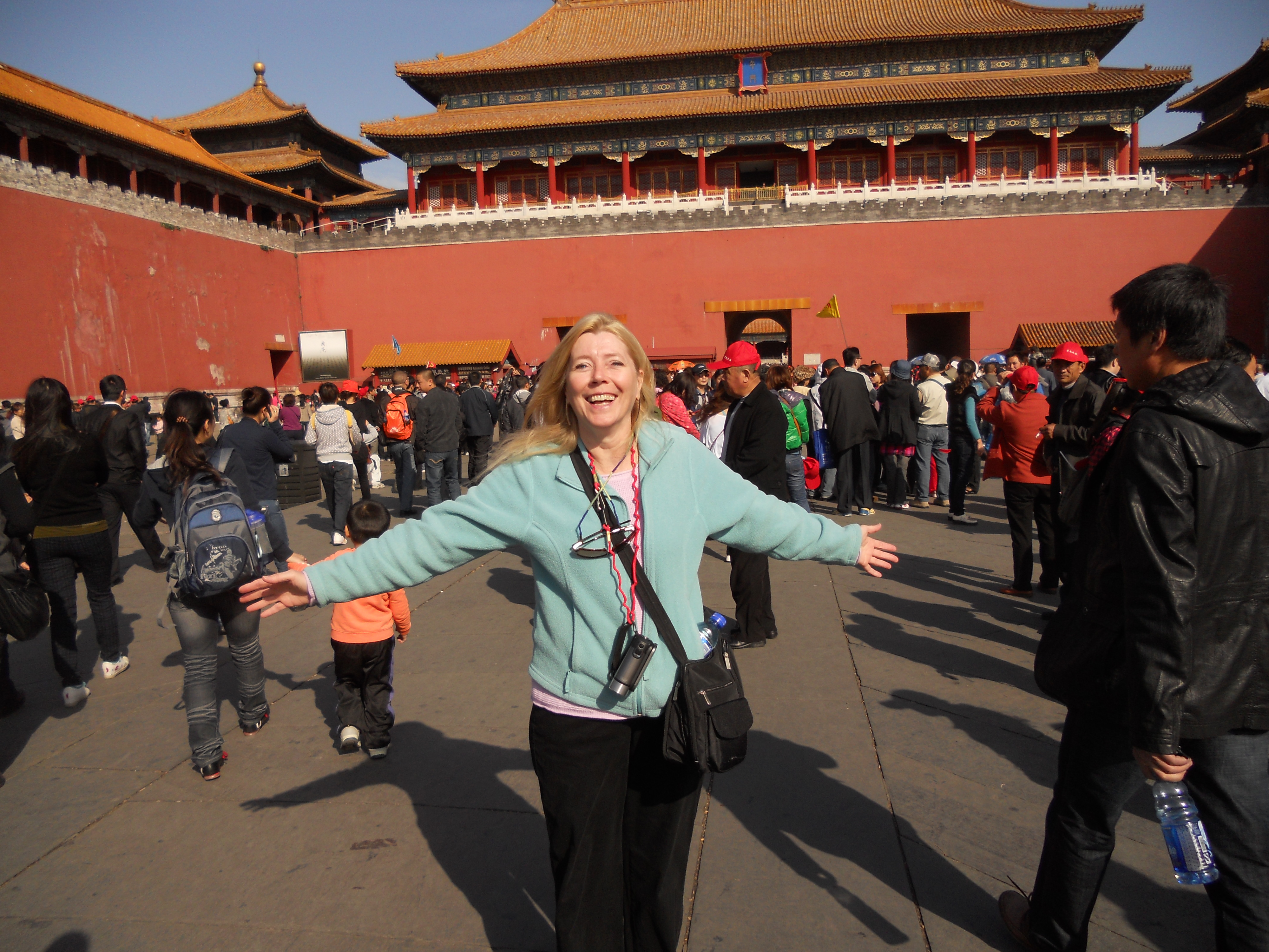 Diana Osberg at the Forbidden City in Beijing